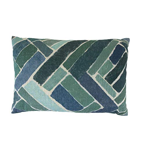 Bella Maison Cojín decorativo de Brick, funda decorativa para sofá con relleno de cojín, tamaño: 35 x 50 cm, en azul, certificado Öko-Tex