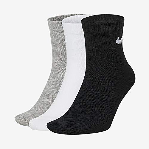 NIKE U NK Everyday Ltwt Ankle 3Pr Socks, Unisex adulto, WhBlk/ DghBlk/ BlkWh, L