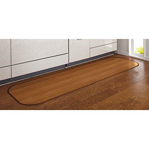 幅約60×丈約90cm(消臭加工フローリング調キッチンマット)507042(サイズはありませんオ:アッシュグレイ)