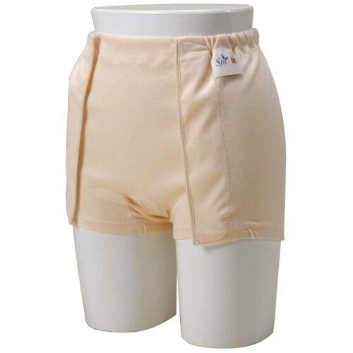 H403ソフィットガード・紙おむつ(パッド)専用布パンツ・両開きタイプクリームM
