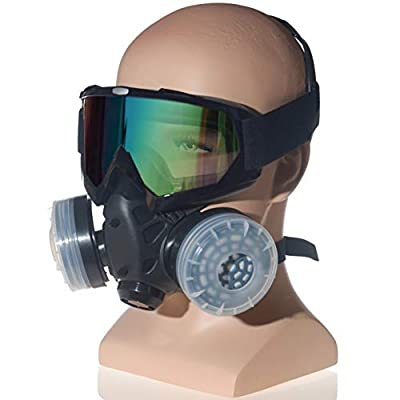 HXMY Anti-Dust Paint Respirator Reusable Face Mask Goggles Set from HXMY
