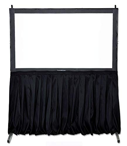 """Visual Apex Projector Screen with Stand Black Screen Skirt Drape Kit (EL) 60"""" H x 156"""" W - Extra Height Projection Screen Skirt Kit (Screen not Included) for use with Screen and Extension Legs."""