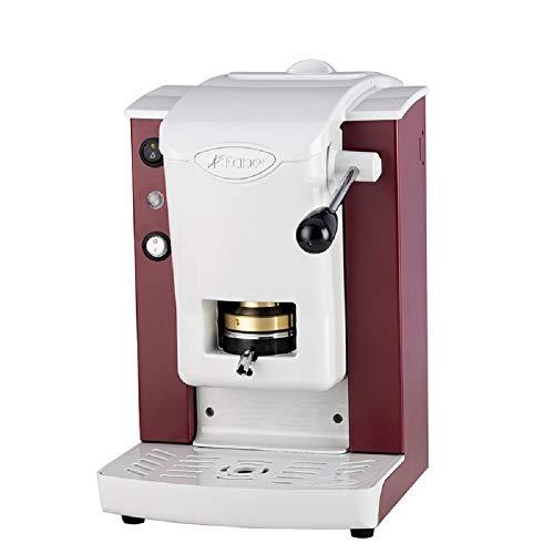 FABER SLOT PLAST Macchina da Caffè a Cialde ESE 44 MM Colore BORGOGNA BIANCA