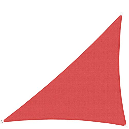 TANG Sun Shades Depot Red 14'x16'x21' Right Triangle Sun Shade Sail Canopy Square 180 GSM Shade Sail UV Block for Patio Garden School Park Outdoor Facility and Activities