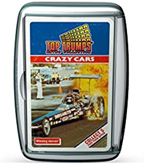 Holland Plastics Original Brand Retro top Trumps Card Game - Crazy Cars! All The Crazy Cars of The era - A Great Gift and ...