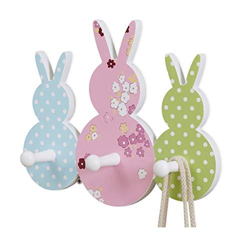Patères pour manteaux Crochet de bande dessinée patère porte arrière crochet de lapin pour chambre d'enfants créatifs crochet de décoration de chambre à coucher (Size : 21x12x8cm)
