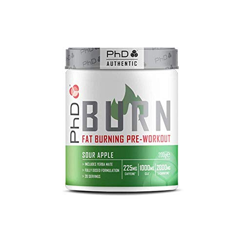 PhD Burn-Pre Workout Powder With Added Fat Burning Ingredients, For...