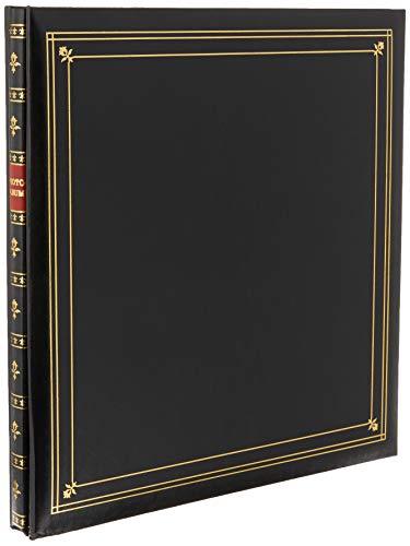 Pioneer Photo Albums Álbum de fotos de couro sintético encadernado com 300 bolsos para impressões de 8,8 x 13,8 cm, preto