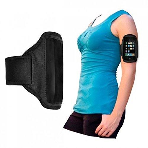 King-HighTech Sportarmband voor Motorola Atrix / Atrix 4G, zwart