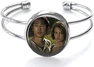 The Walking Dead Maggie and Glenn Silver Plated Cuff Bracelet