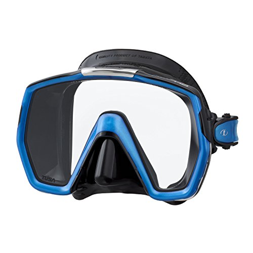 Tusa Freedom HD, Tauchmaske schnorchelmaske erwachsene profi, silikon schwarz/blau