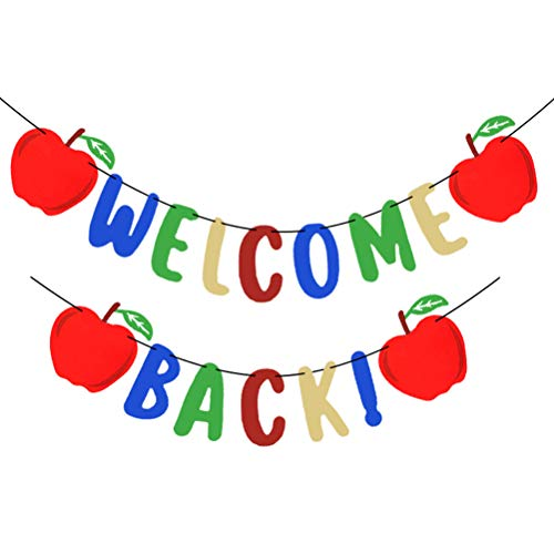 PTS Welcome Back Banners Beautiful Apple Pull Flags Back to School Party Decorations