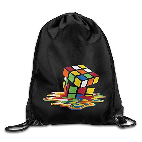 Jiger Classic African Black Women with Blue Hair Drawstring Bags Yoga School Backpack Pattern 9 Lightweight Unique 16.9x14.2 -