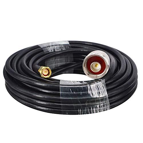 YILIANDUO SMA Cable Antena N Macho a SMA Macho Extensión Cable RG58 5M para WiFi Antena Exterior WLAN Repetidor Inalámbrico Router Bluetooth ZigBee…