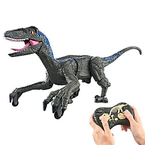 Zdalne sterowanie dinozaurami, chodzenie i ryk dinozaur zabawka sterowana radiowo dinozaur Robot dinozaur zabawki dla małych dzieci dinozaur ze światłami i dźwiękami interaktywne zabawki dla chłopców dziewcząt