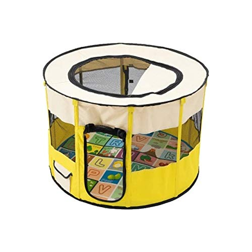Gather together 90x60cm Yellow Two Sizes Cat Dog Cage Fence Pet Playpen Dogs House Kennel Large Space Indoor Dogs Tent Outdoor Delivery Room Perros для собак
