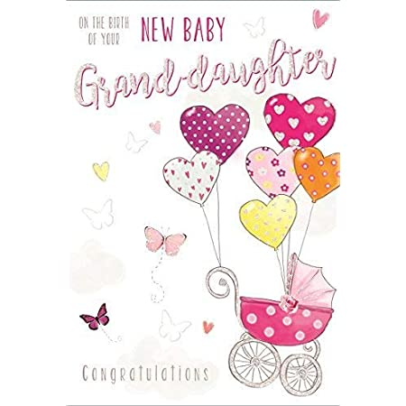 New Baby Granddaughter Card   On The Birth Of Our Granddaughter   Birth Of  Our Grandchild. : Amazon.co.uk: Stationery & Office Supplies