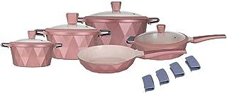 Non Stick Cookware Set, Marble, 13Pieces, Pink, Kochstelle…
