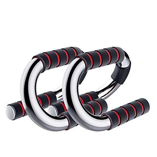 Soporte para Flexiones de Gimnasio Lagartijas de Acero Soporte con apretones Antideslizantes for Floor Entrenamiento físico del Cuerpo del Ejercicio de Entrenamiento Equipo de Entrenamiento