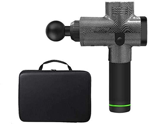 Buzones Masaje Pistola eléctrica Profunda del músculo fascial Consejo de Masaje del Tejido Pistola de percusión Equipo de la Aptitud (Color : Carbon Fiber Bag)