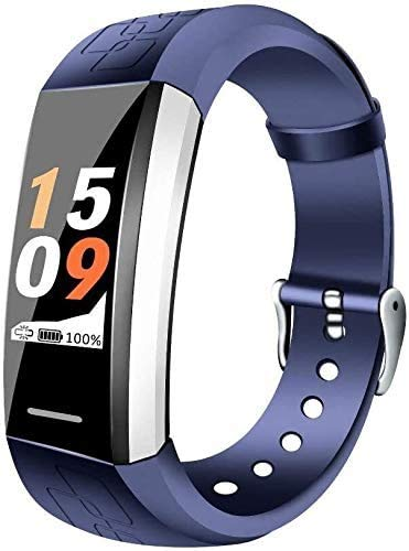 ZHENAO Fitness Tracker Smart Pulsera Impermeable Deportes Bluetooth Tasa de Ritmo Cardíaca Blue Sport Fitness Tracker clásico