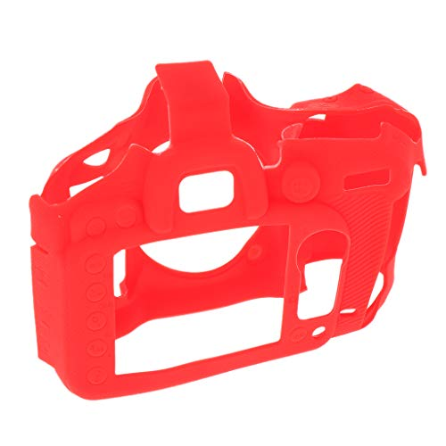 Gazechimp Caja De La Carcasa del Cuerpo De La Cámara, Cubierta De La Caja De La Cámara De Silicona Protectora Desmontable para D7200 / D7100 - Rojo