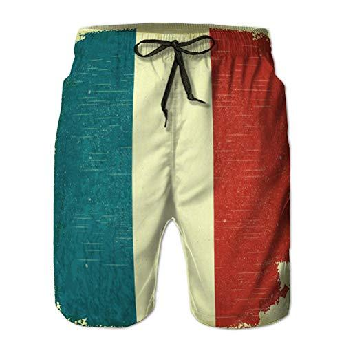 vbndfghjd Pantaloncini da Bagno Uomo Stampa 3D Pantaloncini da Spiaggia ad Asciugatura Rapida Bandiera Francese XL