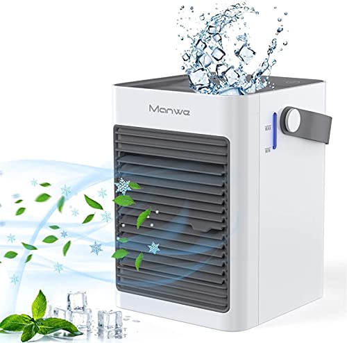 GXT Air Cooler-Mini Air Conditioner Personal Desktop Fan 3 in 1 Small Evaporative Cooler, Humidifier, Purifier with 3 Fan Speed, Used for Home Office Bedroom Outdoor cool