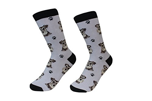 Schnauzer, Uncropped Ears Dog Breed Socks Unisex Sock Daddy by E&S Pets