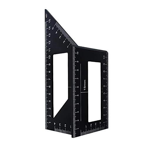 tJexePYK Holzbearbeitungs Measure Ruler Platz Lineal-Werkzeug Carpenter Platz für Ingenieure Tischler