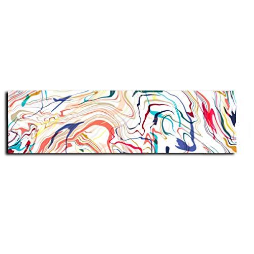 Geométrica abstracta retro de mármol para monopatín, cinta antideslizante para monopatín, scooter, tabla larga, pedal de 22 x 83 cm