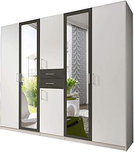 8 moderno modo semplice armadio armadietto sistema porta ripiani regolabili e barre appendiabiti girevole con una fila di fori,Grey-270 cm