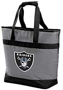 NFL 30 Can Soft Sided Tote Cooler, Las Vegas Raiders by Rawlings Sporting Goods