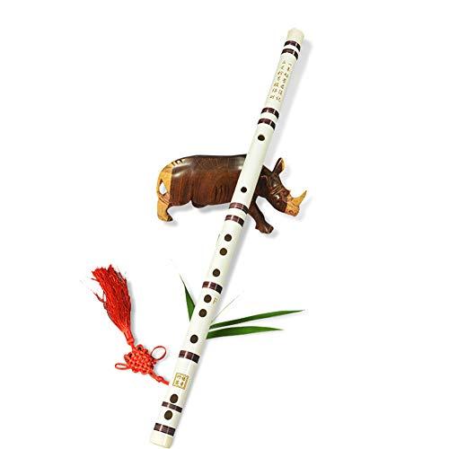 Weiß Dizi Anfänger Bambusflöte 3 Jahre alt C, D, E, F, G Schlüssel umweltfreundlich Färbung (Farbe : G KEY)