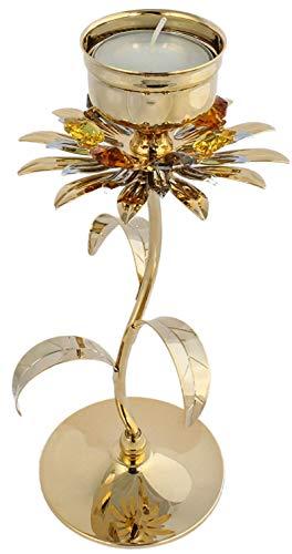 Rieser Interieur Blumen Teelichthalter Kerzenständer Kerzenhalter Kerzenleuchter Made with Swarovski Elements
