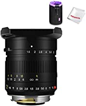 TTArtisan 21mm F1.5 Wide-Angle Manual Fixed Lens for Leica M-Mount Lens for Leica M-M M240 M3 M6 M7 M8 M9 M9p M10 with Caden Lens Pouch Bag