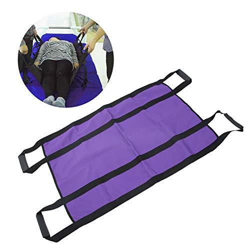 Cinturón de sábana de transferencia de pacientes, almohadilla de posicionamiento de la cama con asas reforzadas, manta de transferencia de sábanas de paciente giratoria de elevación