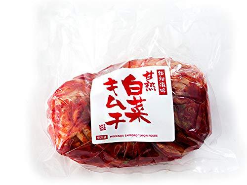 はくさいキムチ500g お徳用サイズ(甘熟白菜キムチ)北海道の名店 トトリフーズ(辛口タイプ)韓国伝統の味 防腐剤不使用(ハクサイきむち)国内産白菜使用