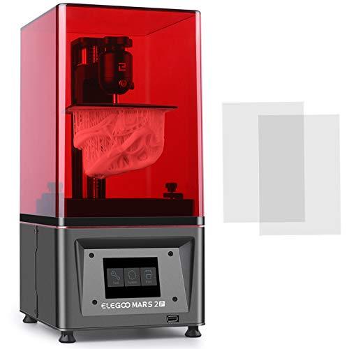 ELEGOO Mars 2 Pro Mono MSLA 3Dプリンター UV光造形式 LCDレジン 3Dプリンター 6インチ2KモノクロLCD 印刷...