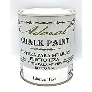 Adoral – Pintura Chalk Paint Pintura A La Tiza Decoración Muebles (Blanco Tiza) 750 ml