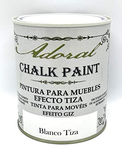 Adoral - Pintura Chalk Paint Pintura A La Tiza Decoración Muebles (Blanco Tiza) 750 ml