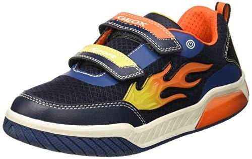 Geox Jungen J INEK Boy C Sneaker, Blau (Navy/Orange C0659), 33 EU
