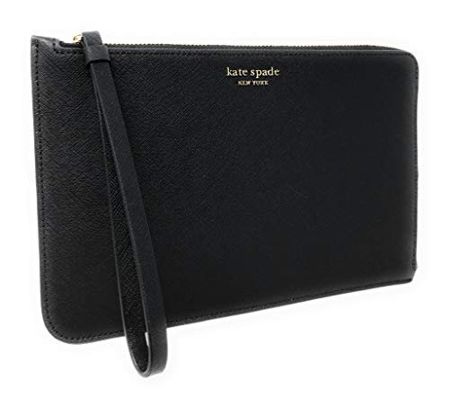 Kate Spade Large L-Zip Cameron Saffiano Leather Wristlet Black