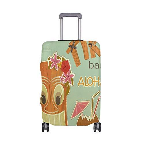 ALINLO - Funda para Equipaje con diseño de Aloha Tropical, para Equipaje de Mano o Maleta de Viaje, para bebés de 18 a 32 Pulgadas, Multicolor (Multicolor) - sdv6464sdb557