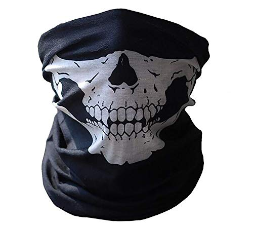 Mask Skull Cosplay Headband Magic Scarf Wristband Halloween Prop Skeleton Face Mask