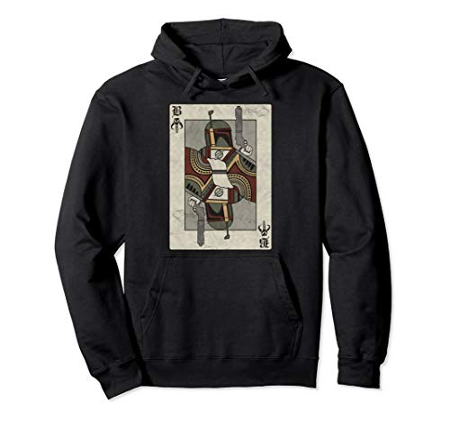 Star Wars Boba Fett Playing Card Graphic Hoodie