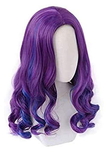 Mal peluca cosplay disfraz descendientes 3 resistente al calor pelo sintético mujeres carnaval party rol juego pelucas Seupeak