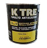 Vernice smalto + antiruggine marrone testa di moro 0.750 ml. Azione 3 in 1 applicabile su ...