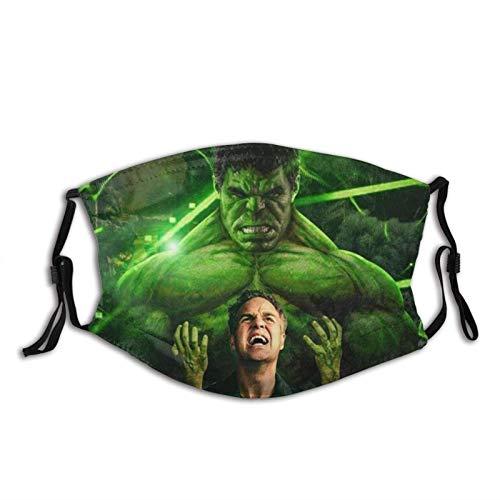 KINGAM Máscara facial de superhéroe Hulk para hombres, mujeres, niños, adolescentes, impresión cómoda, lavable, reutilizable, para cosplay