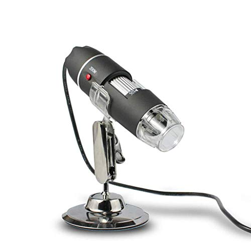 ZTHUAYUAN Lupa de artesanía Creativa Lupa 50-500X con 8 Luces LED Lupa iluminada de Mano Microscopio Digital liviano de súper Alta claridad Lupa para Leer